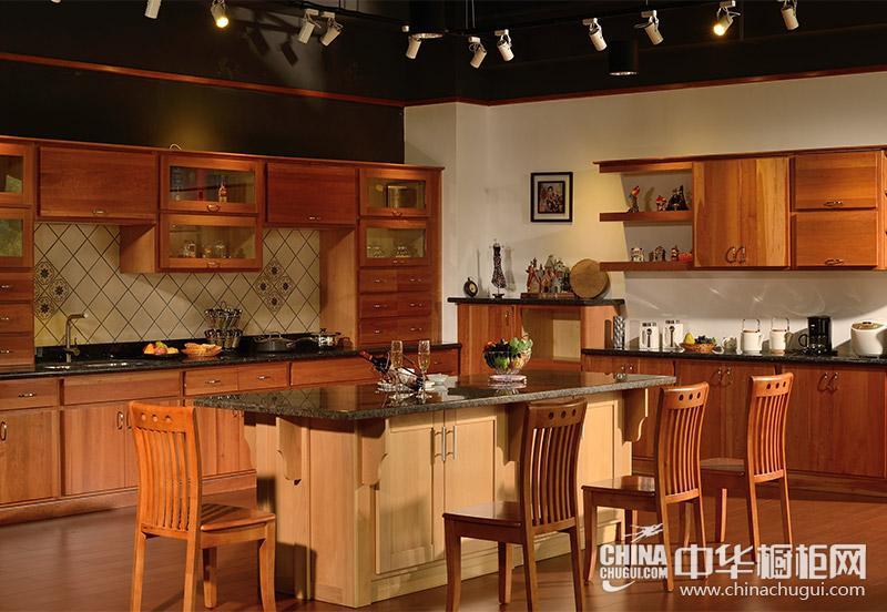 赫思缇橱柜樱桃木橱柜 厨房装修效果图