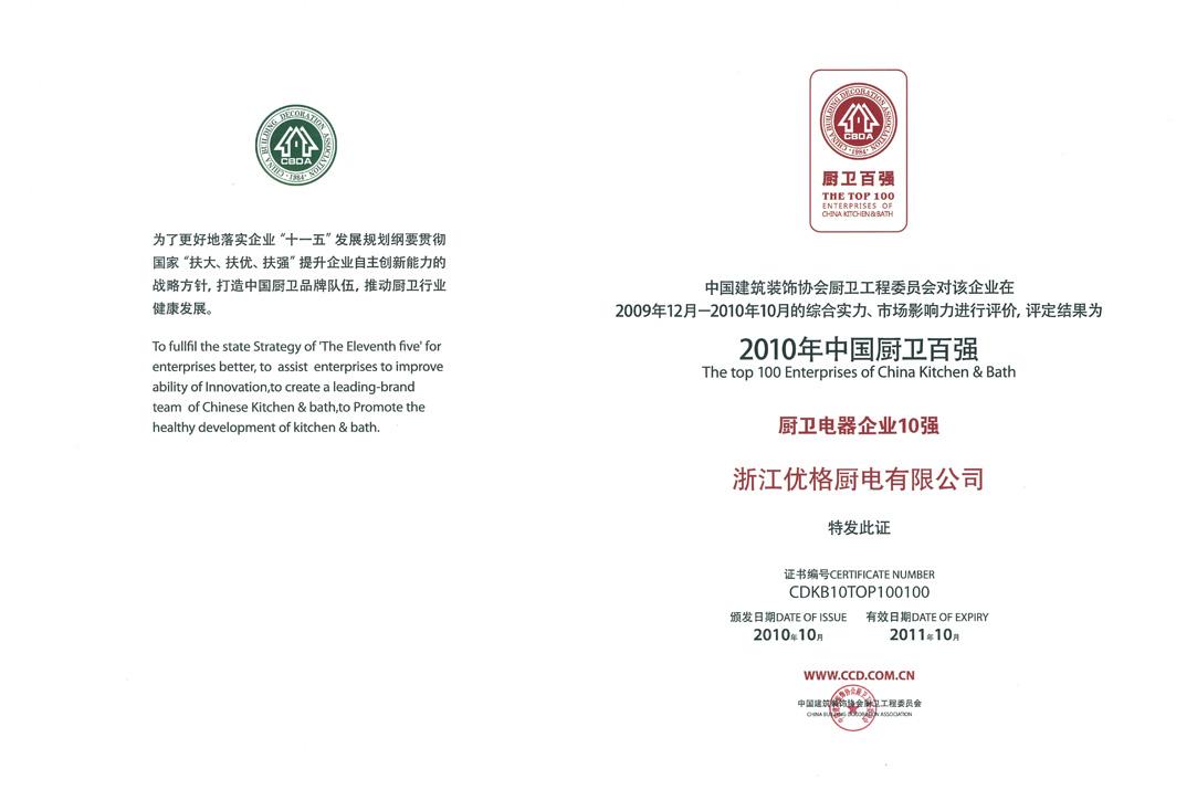 中国厨卫百强