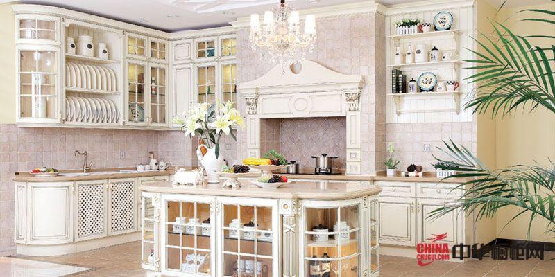 贝姆整体厨房图片 欧式田园风格整体橱柜效果图图片