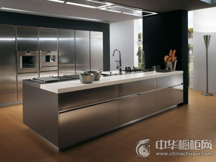 荞克菲不锈钢橱柜效果图 灰色简约风格橱柜图片