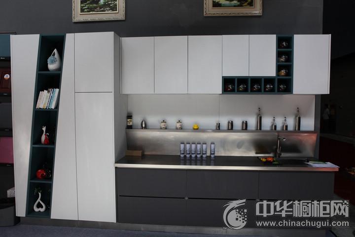 荞克菲不锈钢橱柜 2016年中国建博会(广州)参展产品简约风格橱柜图片