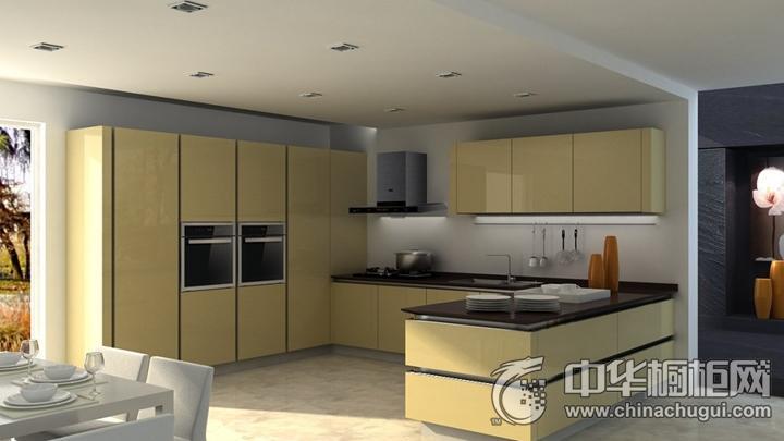 樱花整体厨房效果图 黄色简约风格橱柜图片