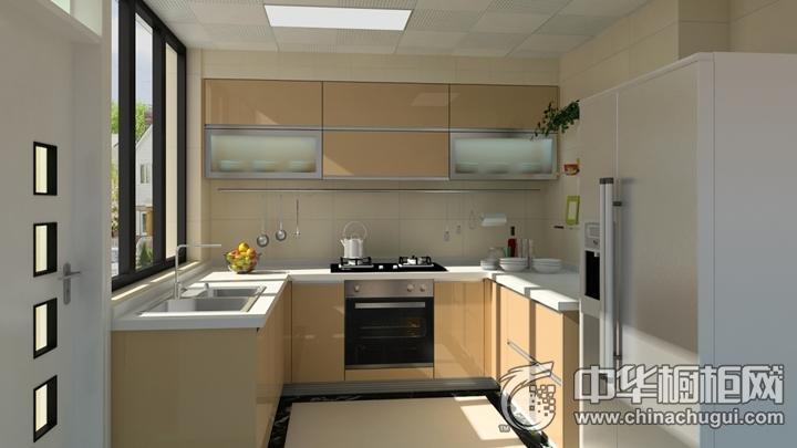 樱花整体厨房效果图 光辉岁月简约风格橱柜图片