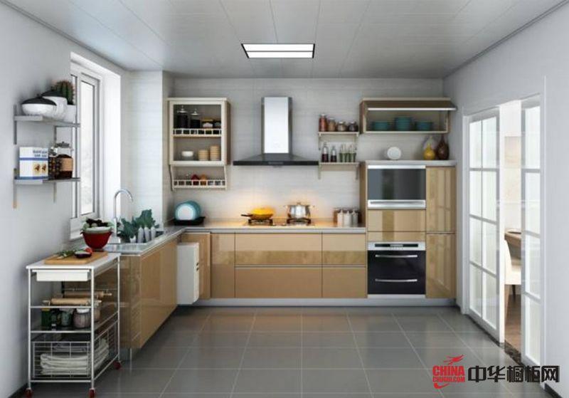 圣象整体厨房金琥珀 现代简约风格橱柜图片