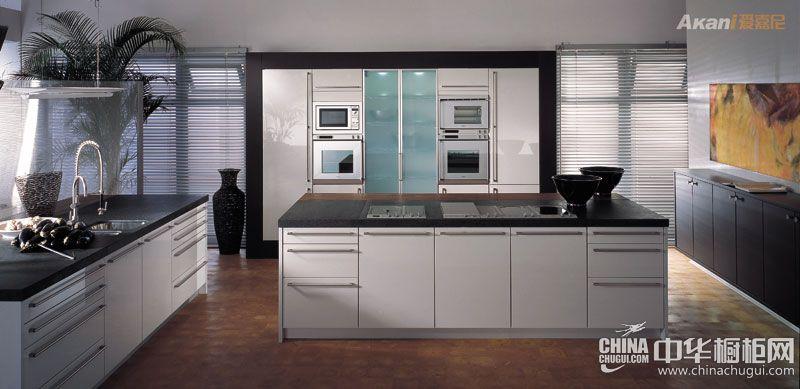 开放式厨房装修效果图 爱嘉尼智能橱柜图片