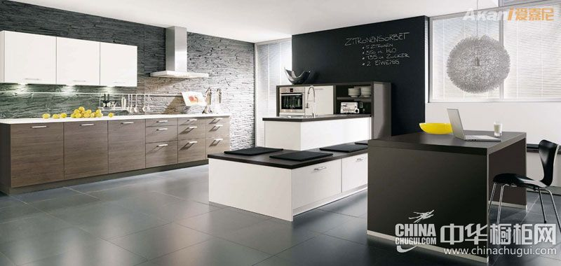 爱嘉尼智能橱柜 开放式厨房装修效果图