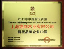 2011年中国厨卫百强橱柜品牌企业10强