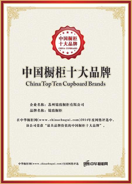 2014橱柜中国十大品牌