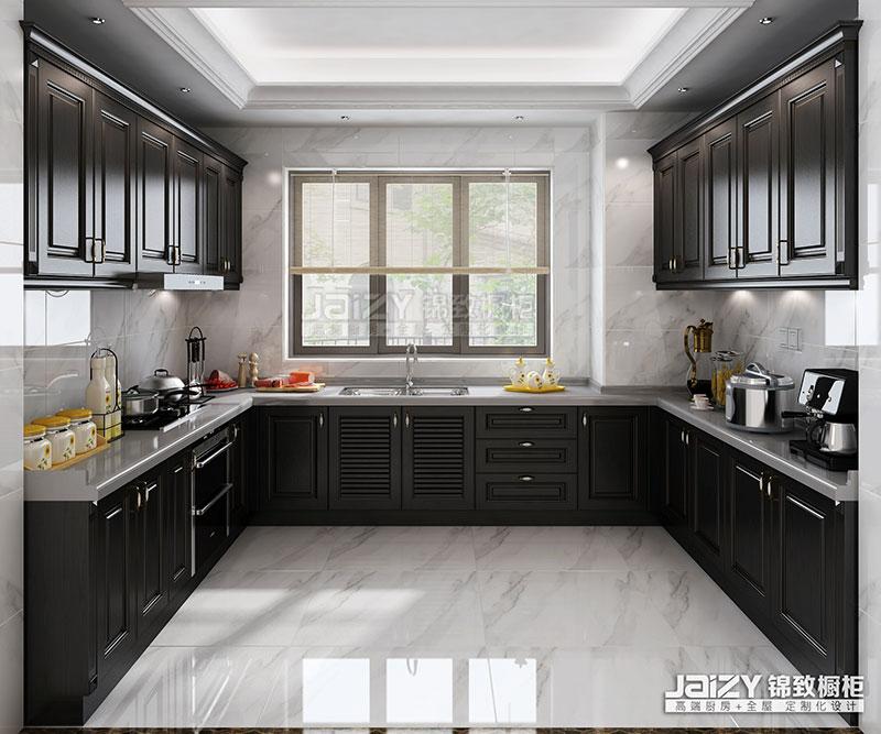 锦致橱柜 卢浮魅影 厨房效果图 中厨 厨房装修效果图