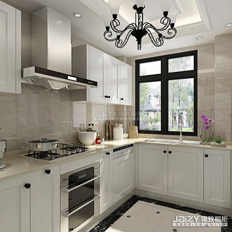锦致橱柜 厨房效果图 罗马假日 橱柜设计欧式风格橱柜图片