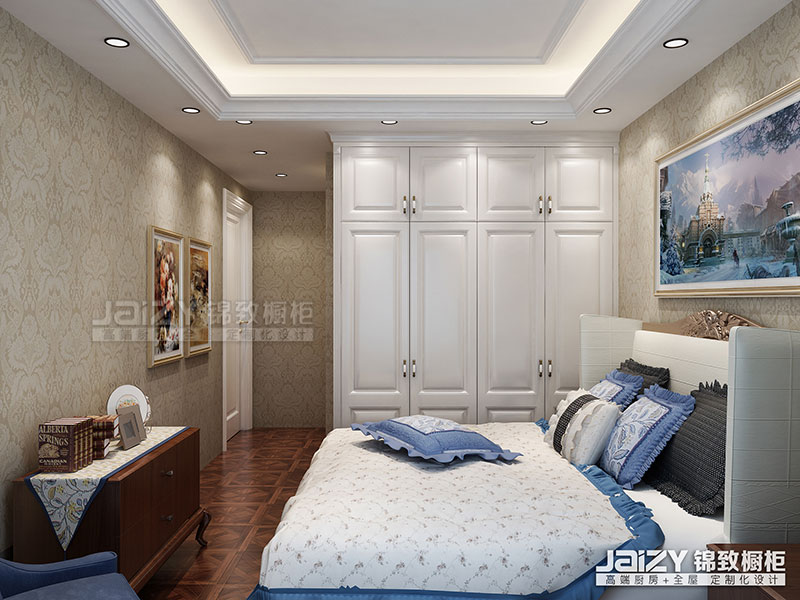 锦致橱柜 卧室衣柜 橱柜效果图 欧式风格橱柜图片