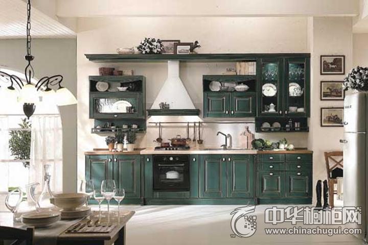 迪凯诺厨柜·衣柜效果图 一字型橱柜田园风格橱柜图片