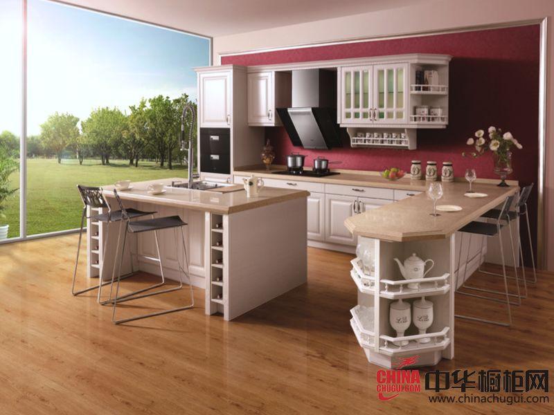 欧式风格橱柜图片 美的智能整体厨房爱丽丝仙境