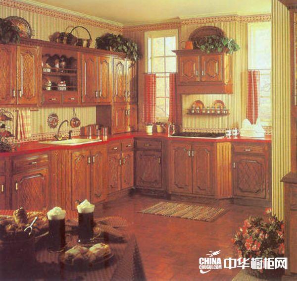 实木整体橱柜效果图 南京科森橱柜整体橱柜产品 古典风格橱柜图片