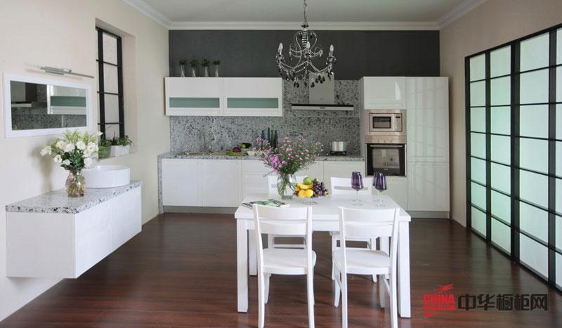 隆森橱柜设计效果图——莫拉克橱柜 后现代简约风格厨房装修效果大全2012图片