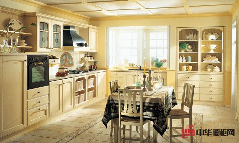隆森圣马可橱柜—— 法式乡村田园风格厨房装修效果图 2012最新款整体橱柜图片