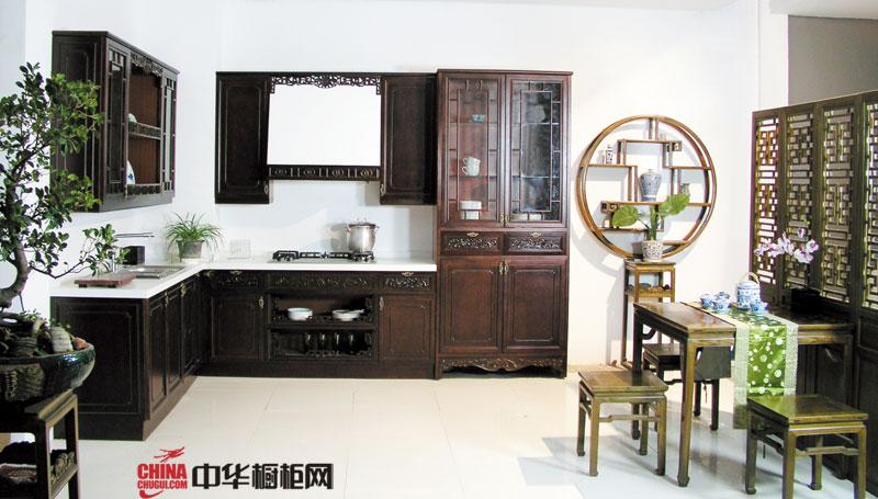 网师园——古典风格厨房装修效果图大全2012图片 实木橱柜图片欣赏