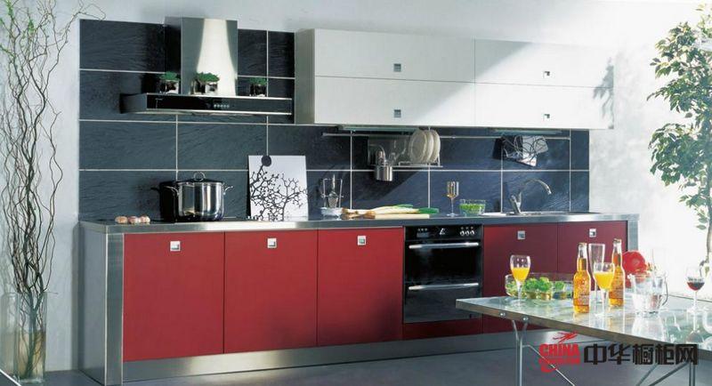 不锈钢橱柜效果图 隆森橱柜整体橱柜产品1380 简约风格橱柜图片