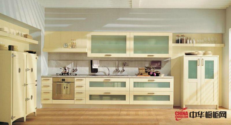 欧式橱柜效果图 隆森橱柜整体橱柜产品安科纳 精致干练的橱柜设计