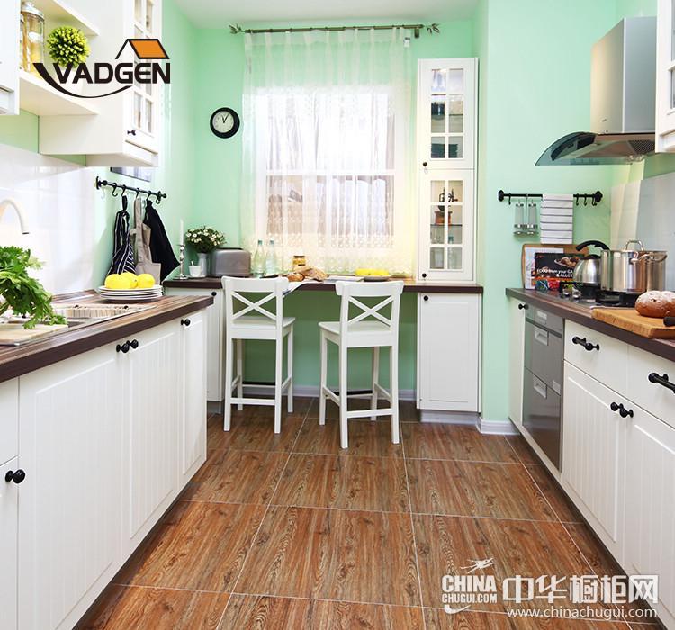 沃根8090全屋定制 整体橱柜系列—莱茵河畔— 田园风格橱柜图片