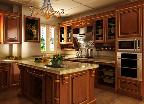 韩丽橱柜 四款复古风格厨房设计欣赏