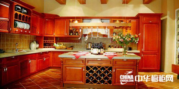 实木整体橱柜效果图 迪迈·邦尼整体橱柜产品 欧式古典风格橱柜图片