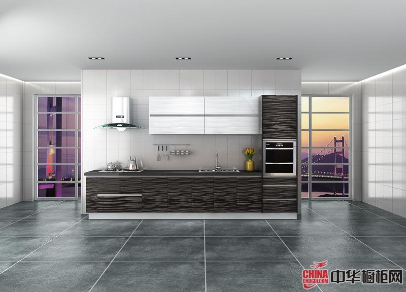 诺尔丽厨柜-斑马森林 简约风格橱柜图片