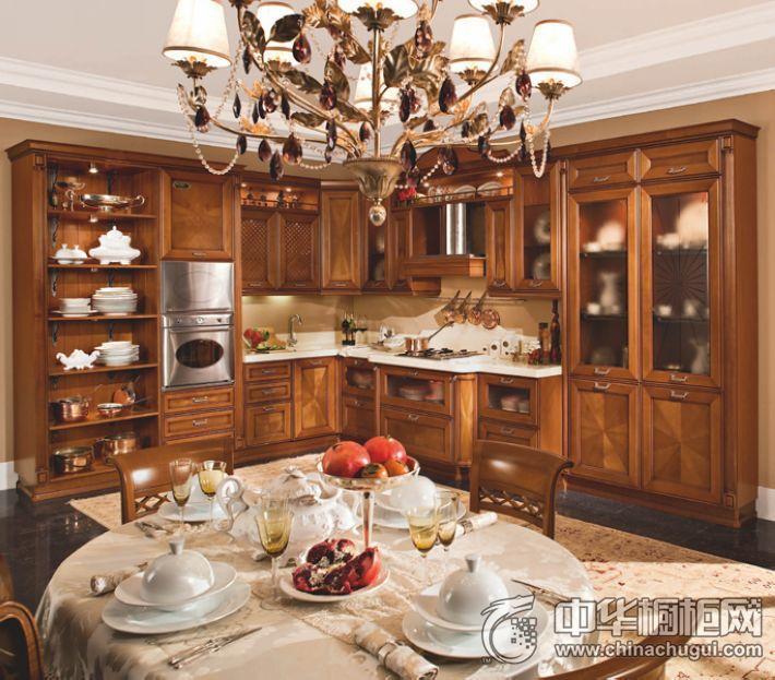 阿瑞多橱柜l型橱柜 古典风格橱柜图片