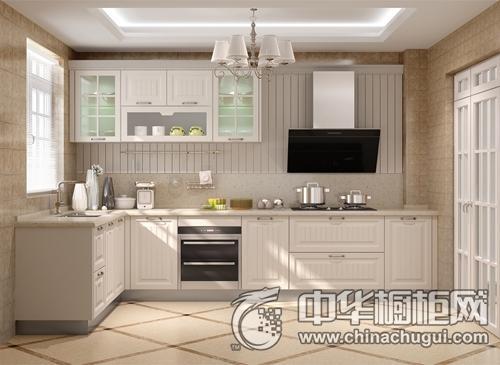 九牧厨柜翠西瑞斯象牙白效果图 简约风格橱柜图片