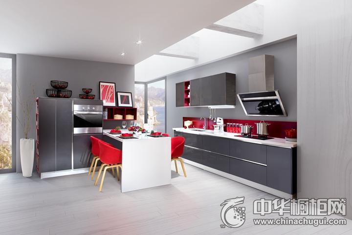 九牧厨柜卡布里效果图 简约风格橱柜图片