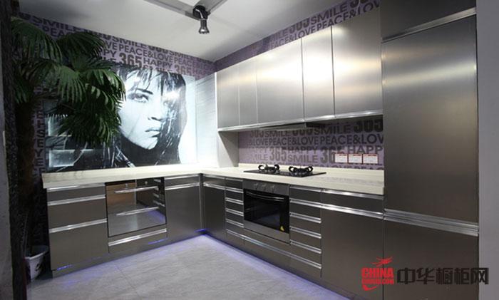 简约风格橱柜效果图 西姆厨柜产品千尺锤银