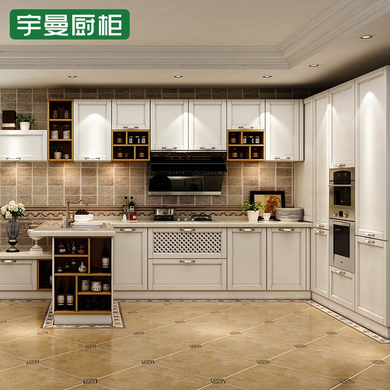 宇曼厨柜 静谧时光吸塑系列橱柜效果图 简欧风格橱柜图片