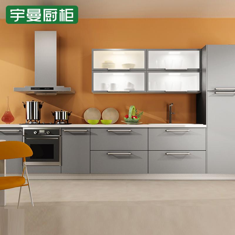 宇曼厨柜 亚克力系列橱柜效果图 简约风格橱柜图片