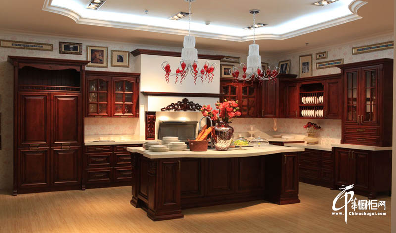 西泊橱柜古典欧式风格-实木整体橱柜
