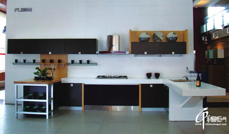 简约古典风格厨房橱柜装修图