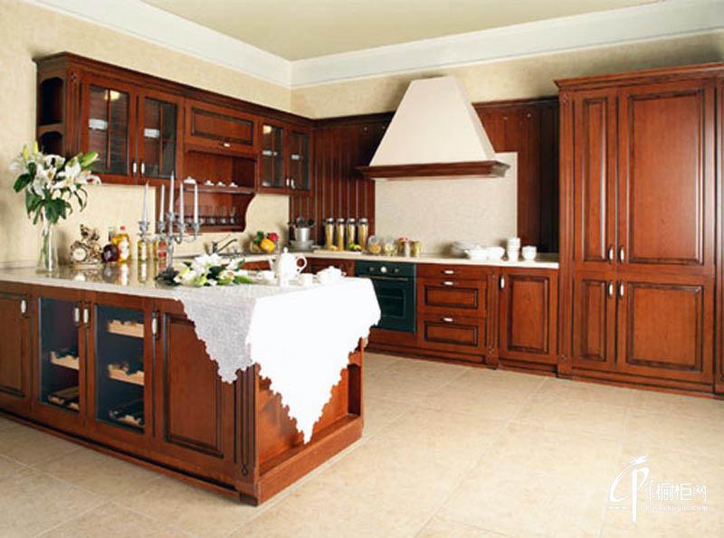 长虹整体厨房厨房装修效果图实木橱柜