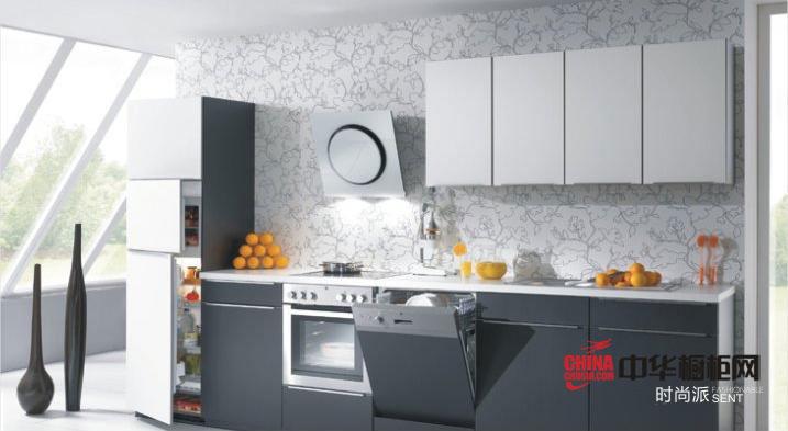 阳光简约风格橱柜设计 益有厨柜整体橱柜效果图时尚派