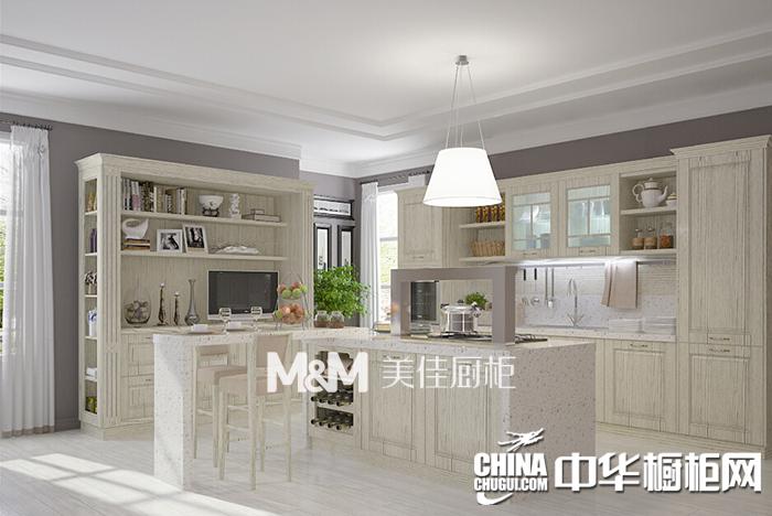 美佳厨柜卡梅尔整体橱柜 欧式风格橱柜效果图