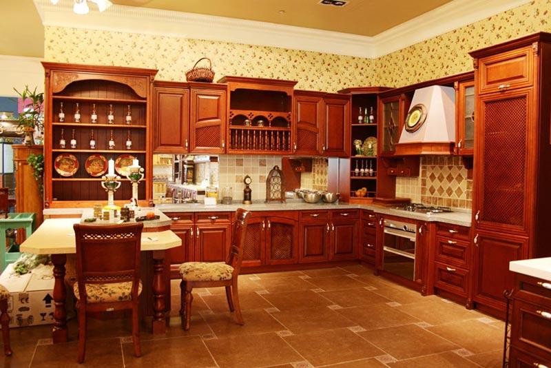 帅康整体厨房效果图 欧式风格橱柜图片