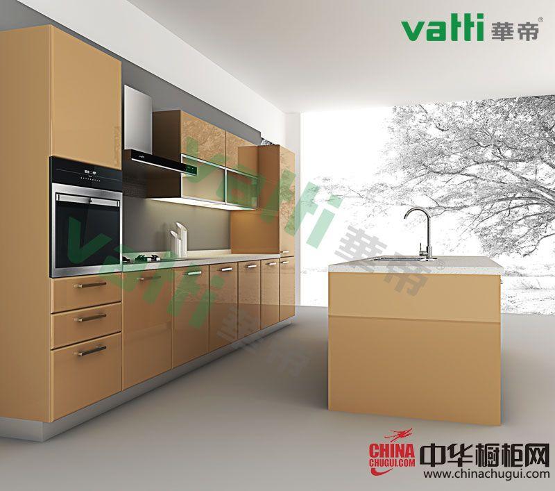 简约风格厨房装修效果图 华帝橱柜图片