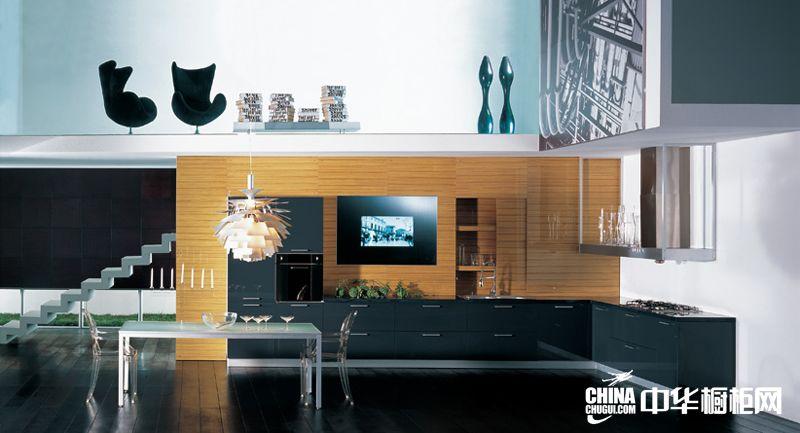 科宝博洛尼橱柜图片 简约风格整体橱柜效果图