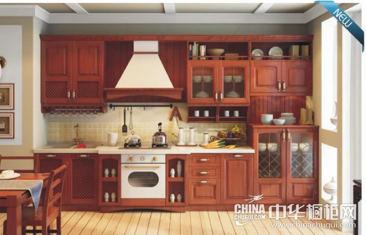田园风格三居室简洁厨房实木橱柜装修效果图 白色u型橱柜图片