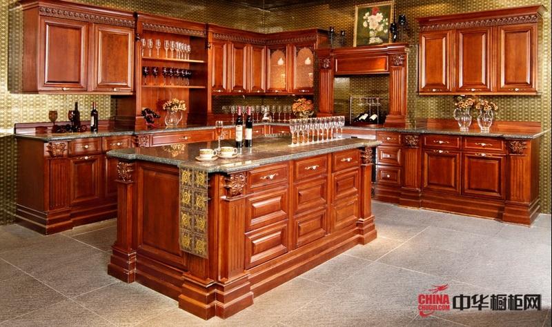 德福诺·德式厨房实木橱柜图片 维罗丽娜古典风格欧式橱柜效果图
