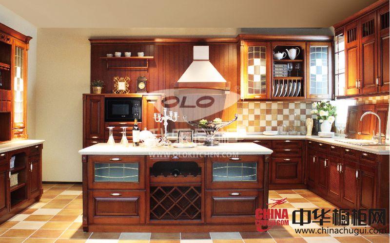 我乐厨柜圣艾米伦效果图 古典风格橱柜图片