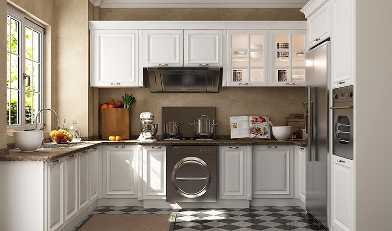 我乐厨柜效果图 简约风格橱柜图片