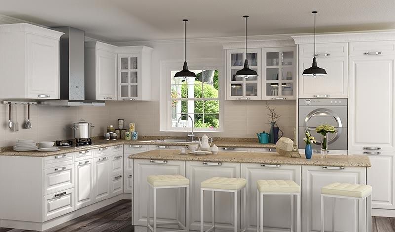 我乐厨柜效果图 欧式风格橱柜图片