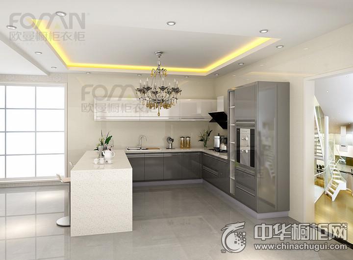 欧曼全屋定制烤漆图片 厨房装修效果图
