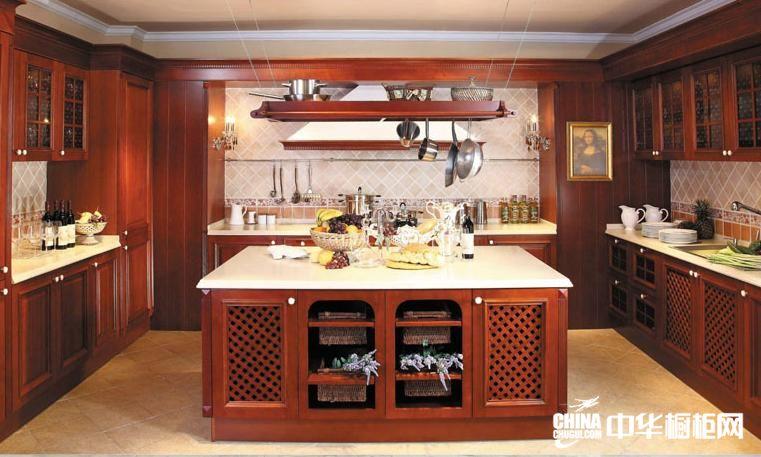 好兆头橱柜古典系列整体橱柜效果图 蒙娜丽莎橱柜图片