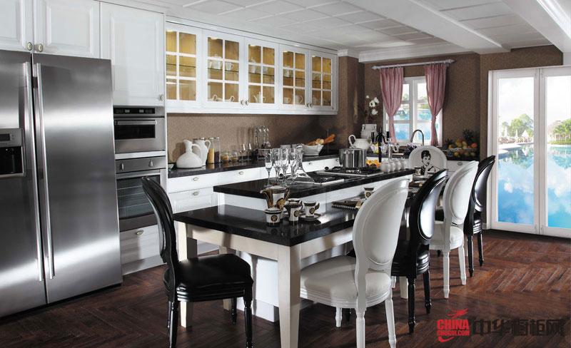 凡高——好兆头厨柜2012最新款整体橱柜图片 简欧风格厨房装修效果图大全