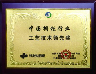 中国橱柜行业工艺技术领先奖